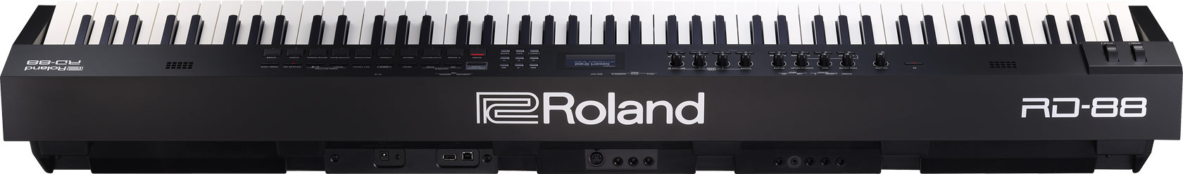 Roland RD 88 stage piano SuperNATURAL Piano E Piano ZEN Core rear