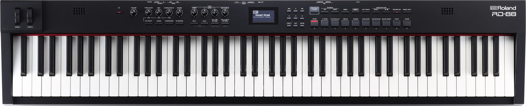 Roland RD 88 stage piano SuperNATURAL Piano E Piano ZEN Core top