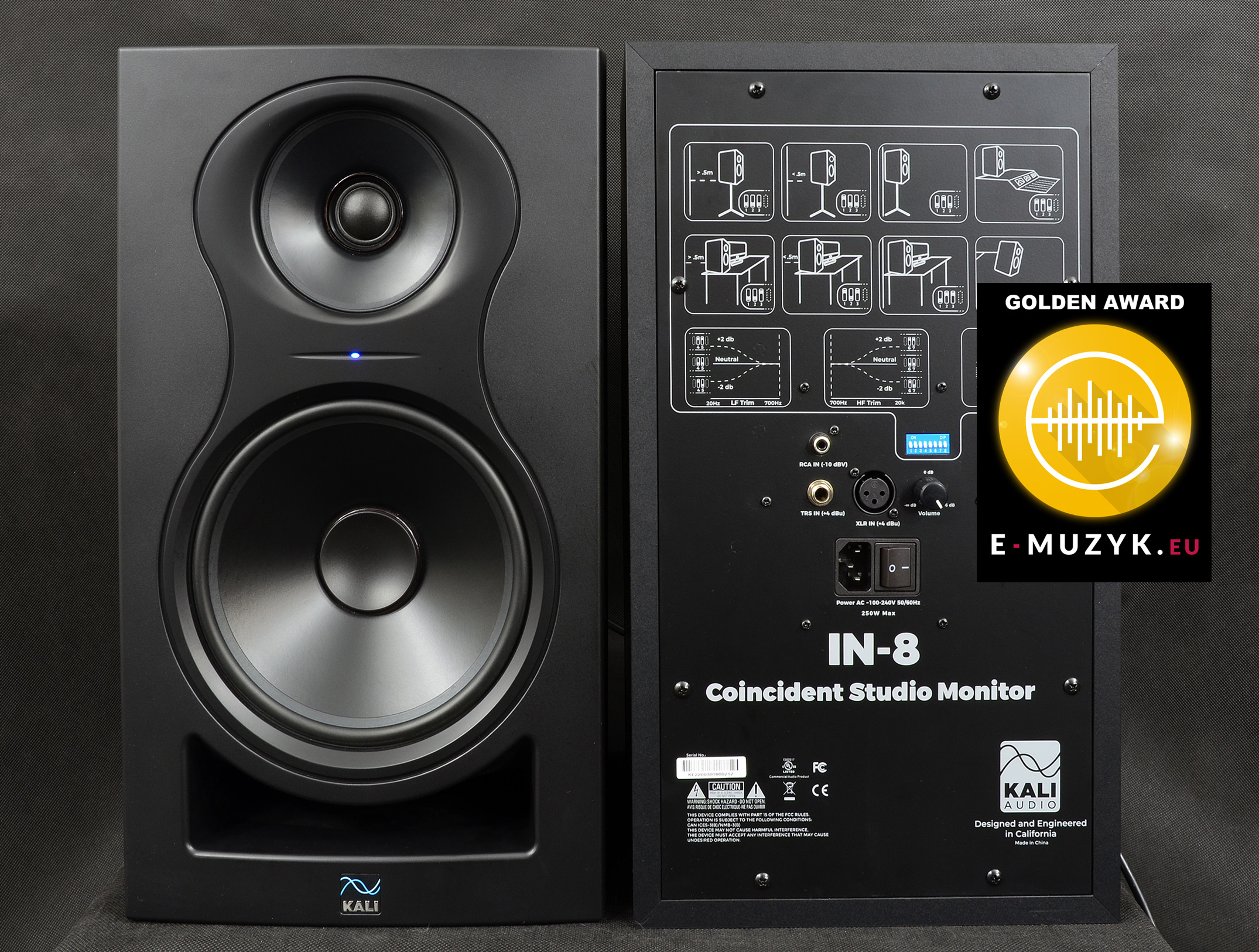 KALI Audio IN 8 TWO front rear AWARD