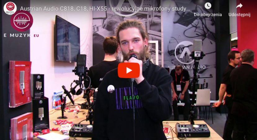 Austrian Audio OC818, OC18, HI-X55 - rewolucyjne mikrofony studyjne i słuchawki [Musikmesse 2019]